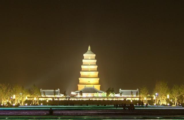 Китай большая пагода дикого гуся